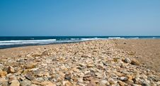 Free Deserted Pebble Beach Stock Photography - 7975342