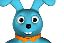 Free Blue Rabbit Royalty Free Stock Images - 7975449