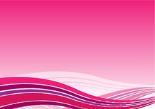 Background With Pink Waves Stock Photo