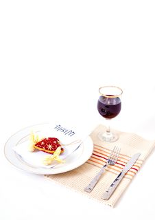 Free Romantic Meal Setting Royalty Free Stock Photos - 7975518