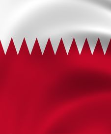 Qatar State Of Flag Closeup Stock Images
