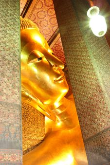 The Reclining Buddha Of Wat Pho. Stock Image