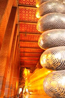 The Reclining Buddha Of Wat Pho. Royalty Free Stock Images