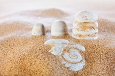 Sand And Stones Royalty Free Stock Image