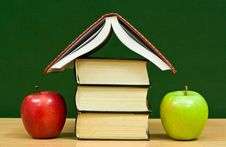 Free Cottage From Books And Apples Royalty Free Stock Images - 7977429