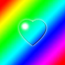 Free Heart Rainbow Key Stock Photography - 7977692
