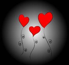Free Three Hearts Stock Photography - 7977712