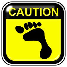 Free Caution - Footstep Royalty Free Stock Images - 7978159