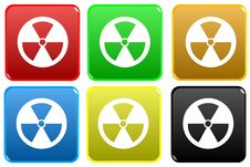 Free Radioactive Web Button Royalty Free Stock Photos - 7978178
