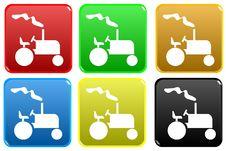 Free Web Button - Tractor Stock Photos - 7978183