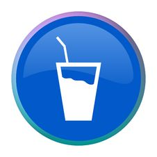 Free Drink Web Button Royalty Free Stock Photos - 7978218
