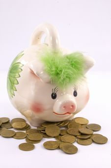 Free Piggy Coins Royalty Free Stock Photo - 7978265