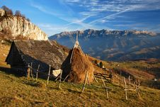 Free Romania Autumn Landscape With Mountains. Royalty Free Stock Images - 7978729