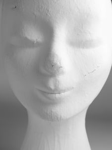 Female Mannequin Face Stock Photo