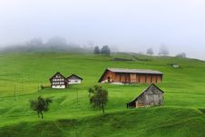 Free Swiss Alpine Hill In Rain Royalty Free Stock Image - 7979436