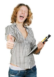 Free Young Beautiful Successful Businesswoman Stock Photography - 7979892