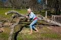 Free Woman Chain Sawing An Oak Tree Royalty Free Stock Photos - 7980368