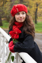Free Romantic Girl With Roses Royalty Free Stock Photography - 7982757