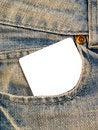 Free Denim Pocket With Notecard 2 Royalty Free Stock Photos - 7987528