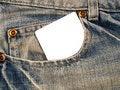 Free Denim Pocket With Notecard 1 Stock Photos - 7987553