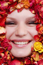 Free Female Face With Roses Stock Photo - 7988080