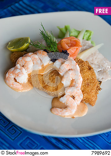 Free Seafood Sandwich Stock Photography - 7989692
