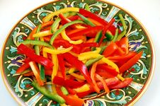 Free Sliced Pepper Salad Royalty Free Stock Images - 7980029