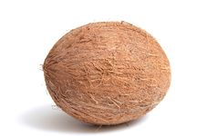 Free Coconut On A White Background. Stock Photo - 7980170