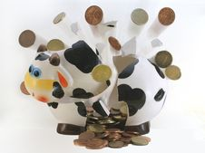 Brocken Piggy Bank Stock Images