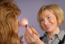 Free Attractive Older Lady Make Up Artist Stock Photography - 7980422