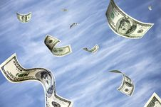 Free Dollars Soaring In The Sky Royalty Free Stock Photography - 7980597