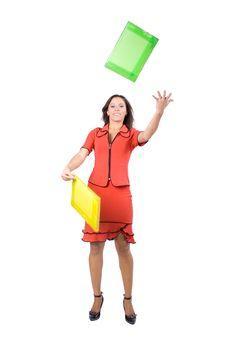 Free The Beautiful Businesswoman Stock Image - 7980821