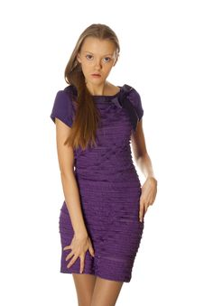Free Woman In Violet Dress Royalty Free Stock Image - 7981736
