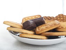 A Plate Of Cookies. Royalty Free Stock Image