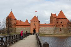 Castle On The Lake Royalty Free Stock Photos