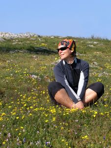 Free Hiker On A Meadow Stock Photography - 7982372