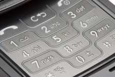 Free Cell Phone Number Pad Macro Royalty Free Stock Photos - 7982438