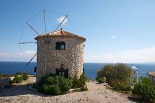 Free Windmills On Hill Over Sea Stock Photos - 7982803
