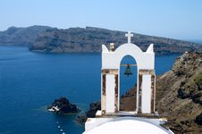 Free Bell In Church On Santorini Island Stock Images - 7982824