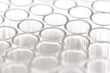 Close-up Of Empty Glass Test Tubes Stock Images