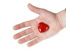 Heart On Hand Stock Photo