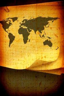 Free Vintage World Map Stock Photo - 7983190