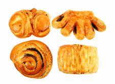 Free Fresh Tasty Cookies On White Background Royalty Free Stock Photos - 7984388