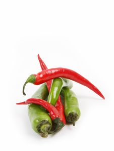 Free Red And Green Fresh Nice Peppers - Very Hot! Royalty Free Stock Photography - 7984627
