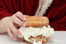 Free Doughnut Sandwhich Stock Photography - 7985082