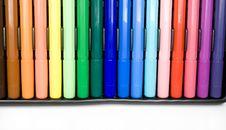 Free Felt-tip Pens Royalty Free Stock Image - 7985936