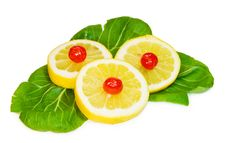 Free Sweet And Sour - Lemons And Cherries Over White Royalty Free Stock Photography - 7985987