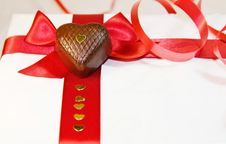 Free I Love You - Red Ribbons And Heart Chocolates Stock Image - 7985991