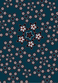 Funky Flowers Abstract Pattern Stock Photos