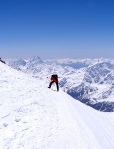 Free Ascent To Elbrus Royalty Free Stock Photos - 7986318